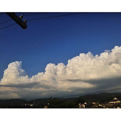 入道雲が… #iphonography #instagram #iphone5