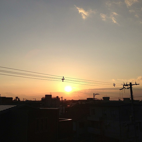 今日の夕暮れ… #iphonography #iphone5 #instagram