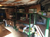 Joe & Judy have a climate-controlled cellar beneath their kitchen, where they store all of their canned goods.