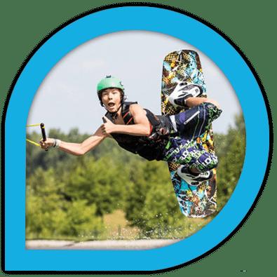 Offrez une carte cadeau Sport Nautique près de Nantes - Wake Park Plessé