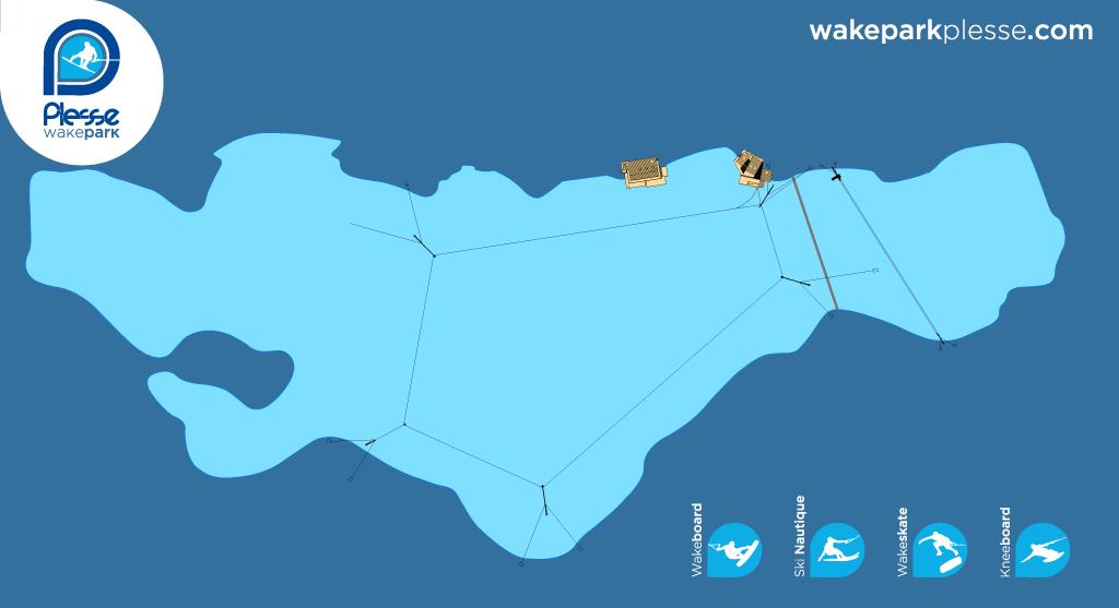 Wake Park 44 - Teleski nautique 44 - Wake Park Plesse