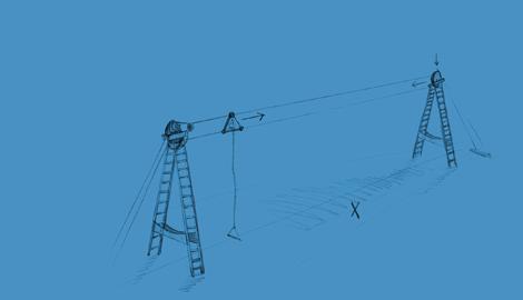 Two Tower Cable : Téléski Nautique Bi-poulies