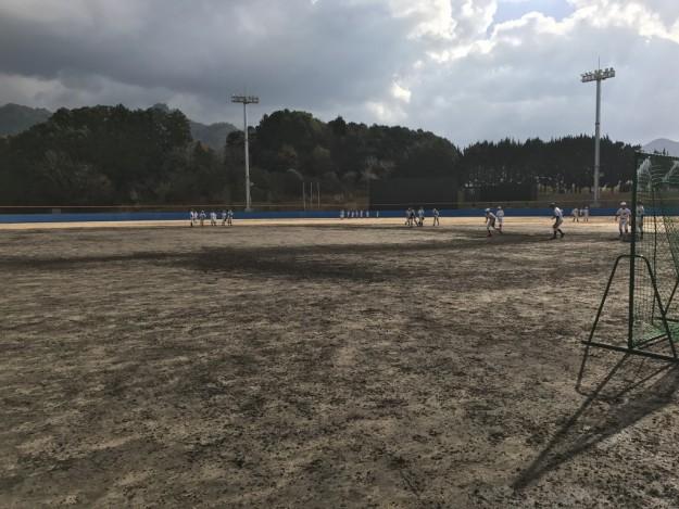 西予市内中学軟式野球チーム合同練習にほぼ飛び入り参加