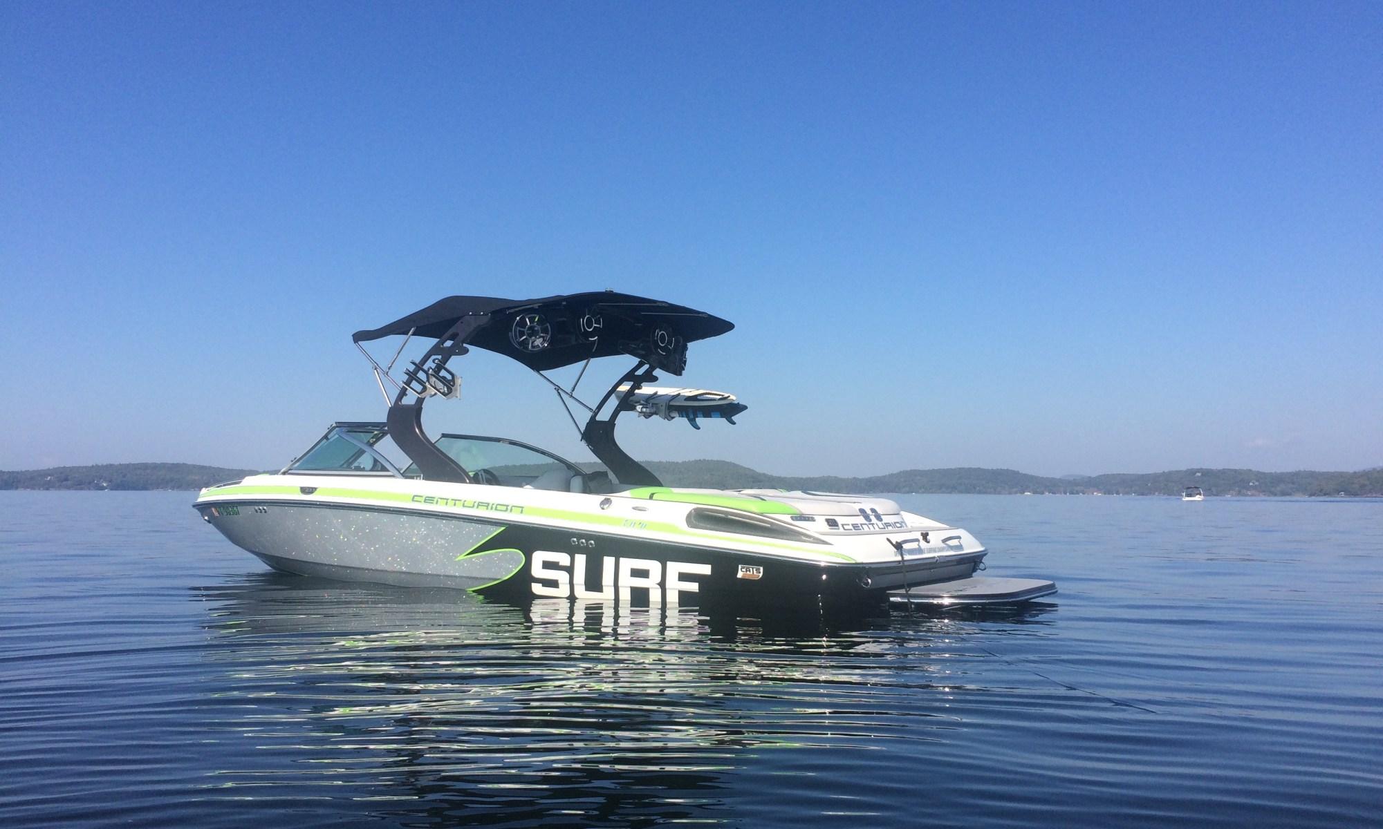 Centurion, Enzo, SV233, towboat, tournament, wakesurfing, lake champlain, wet sounds