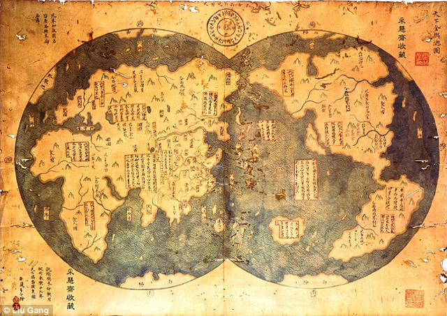 Celebrating Genocide – Christopher Columbus' Conquest of America - an 18th century copy of Admiral Zheng He's 1417 map proves the New World was not ''discovered'' by Columbus
