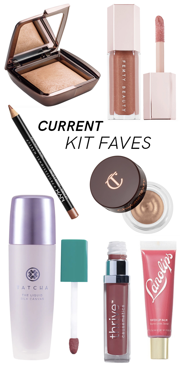 Favorite makeup products in my freelance makeup kit