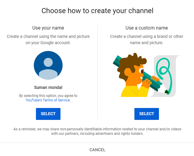 Choose your channel name wisely