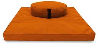 round cushion and zafu