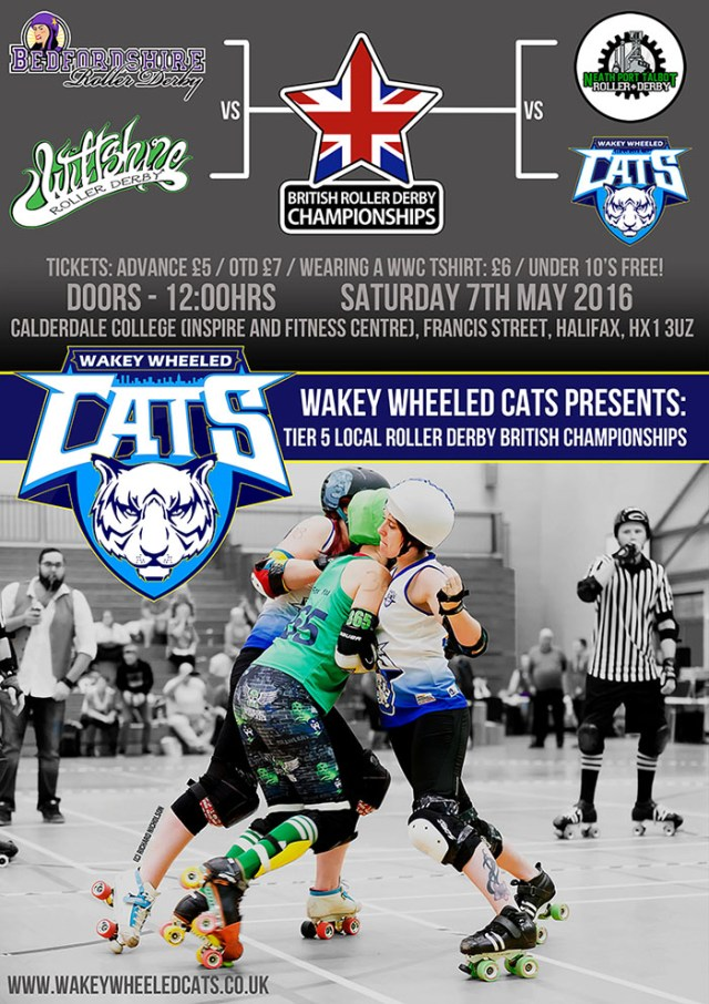 WWC Hosts Tier 5 local roller derby British Championships on 7th may in Halifax