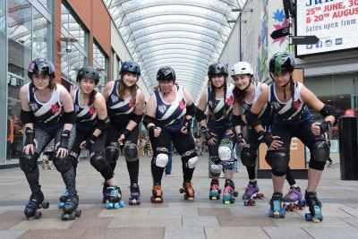 Trinity Rollers in kit sponsored by Trinity Walk