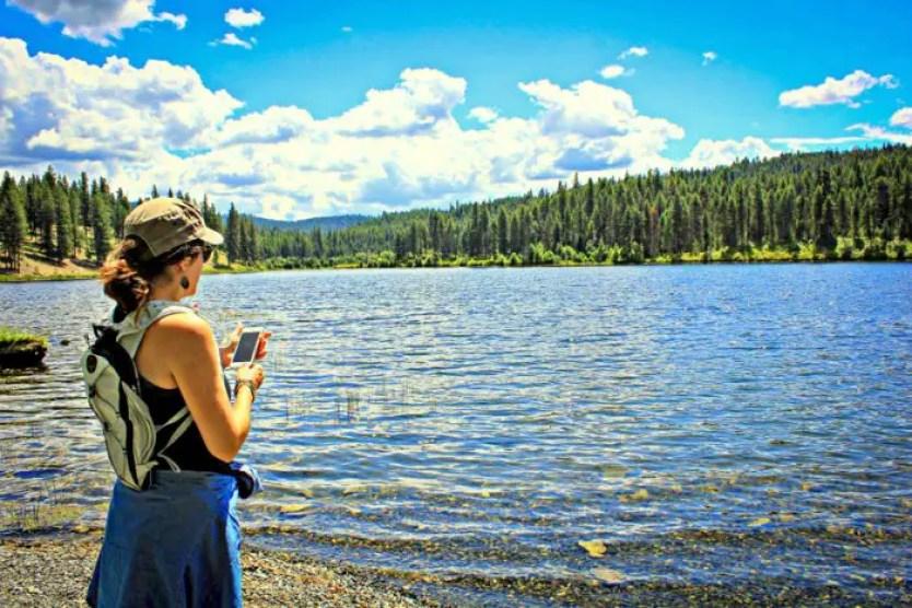 female lake