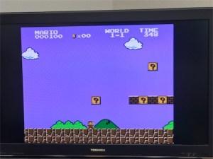 スーパーマリオ、ミニファミコンの画面