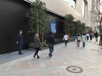Apple新宿店、外観
