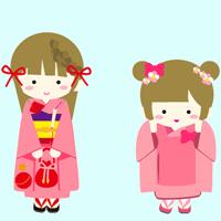 姉妹のイラスト