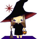 ハロウィンの女の子のイラスト