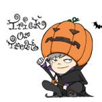 ハロウィンのかっこいいイラストのかぼちゃ