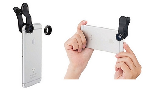 iPhone用クリップレンズワイド&マクロ ソフトバンク