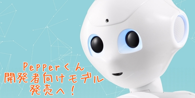 Pepperくん開発用Androidアプリ無料配布スタート 開発者向けモデルの値段は198000円トップ画像