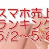 スマホ売上ランキング 2016 5/2~5/8