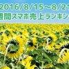 2016/8/15~8/21 スマホ売上ランキング シニア向けスマホ「らくらくスマートフォン3」が好調を維持!