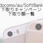 iPhone7/7 Plusを下取り活用で買おう!ドコモ、au、ソフトバンクの下取り額を比較しました!