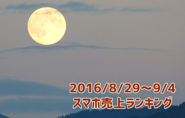 2016/8/29~9/4 スマホ売上ランキング 折りたたみケータイが好調!トップ画像