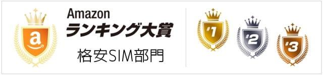 Amazon 格安SIM売上ランキング2016 トップはmineo!トップ画像
