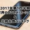 【2017年第1四半期】世界のスマホメーカーシェア&出荷台数ランキング