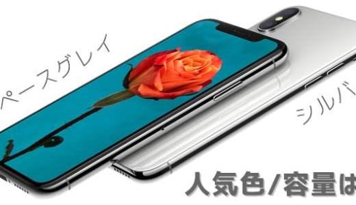 iPhoneX(iPhone10)の人気色・容量を調べました