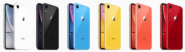 iPhoneXR本体カラー6色