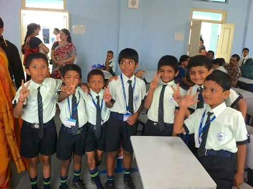 インドの学校に入学