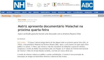 26-09-12-Jornal NH-Walachai em 2 Irmãos