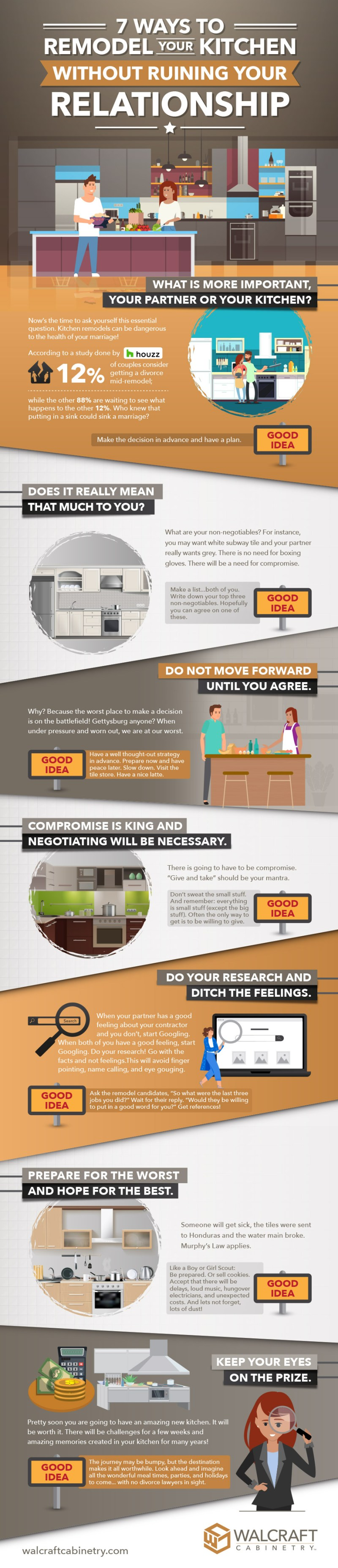 7 Ways to Remodel Your Kitchen Without Ruining Your Relationship — Infographic