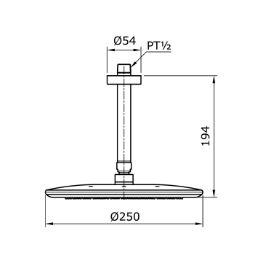 TOTO Fixed Shower Head TX491SLZ 天花固定蓮蓬頭 – Waldenhome