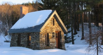 Beautiful Home Inspired by Thoreau's Cabin – Built from Stone