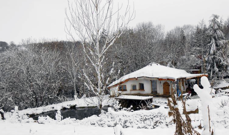 Natural home in winter