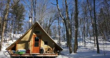 4-Season Off-Grid Prospector-Style Tent: A Tiny House Alternative
