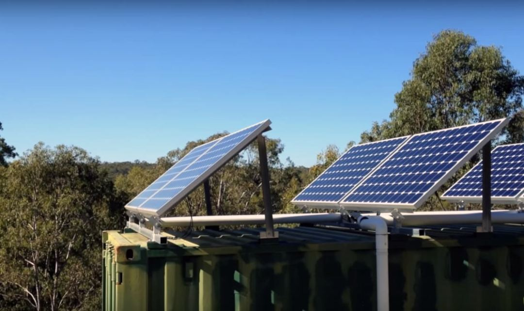 video tour off grid shipping container home down under walden labs