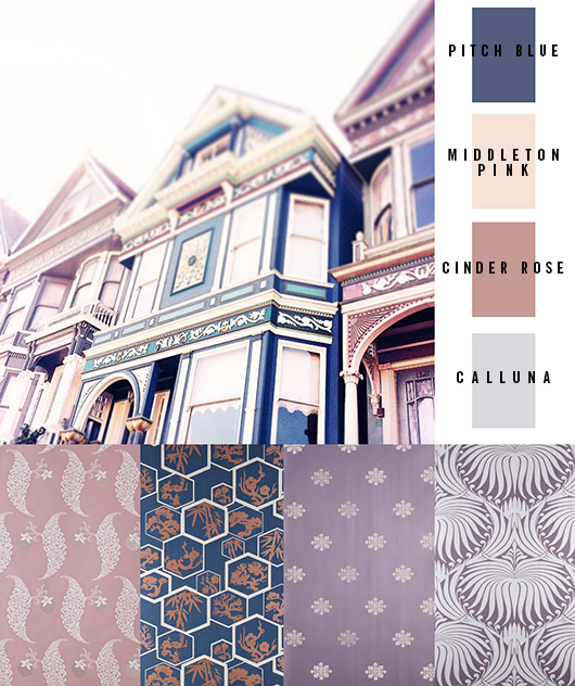 Victorian Houses Farb Palette San Francisco