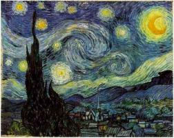 Title: Starry Night Artist: Vincent van Gogh Dimensions: 2′ 5″ x 3′ 0″ Location: Museum of Modern Art Created: June 1889