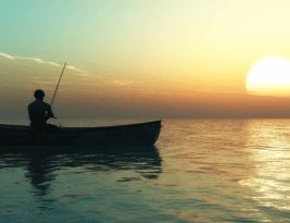 No haga el contra examen desde un bote depescar