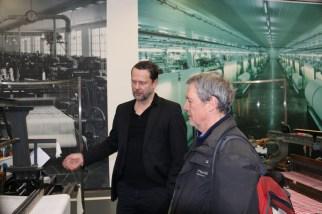 Hansi Kraus mit Dr. Karl Borromäus Murr im Textilmuseum Augsburg