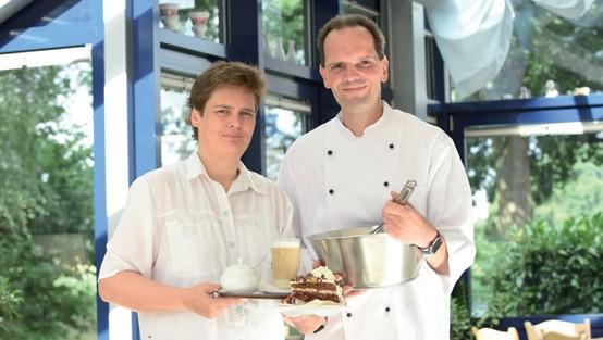 Das Team der Küche: Moraima und Heiko Kipp.