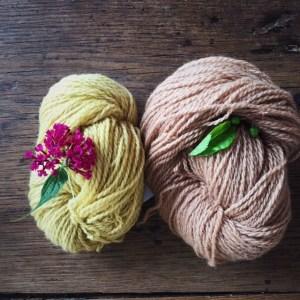 Pflanzengefärbte Wolle