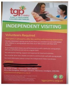 TGP Cymru looking for volunteers to work with looked after children