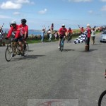 300 Mile Challenge Cyclists Welcomed to Haverfordwest