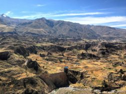 View of the Colca Valley as part of the Colca Canyon day tour