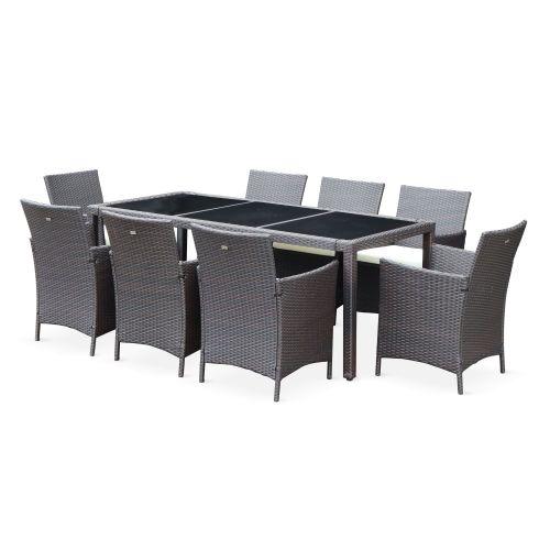 table de jardin 8 fauteuils en resine tavola 8