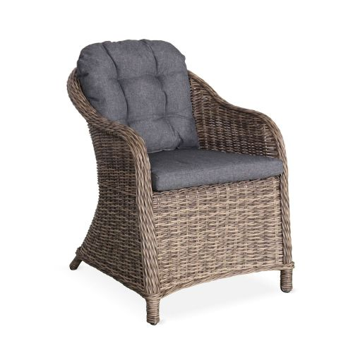 lot de 2 fauteuils de jardin en resine ronde