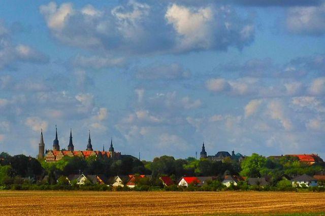 Blick auf das Schloß in Merseburg